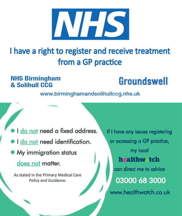 Know Your Right GP card