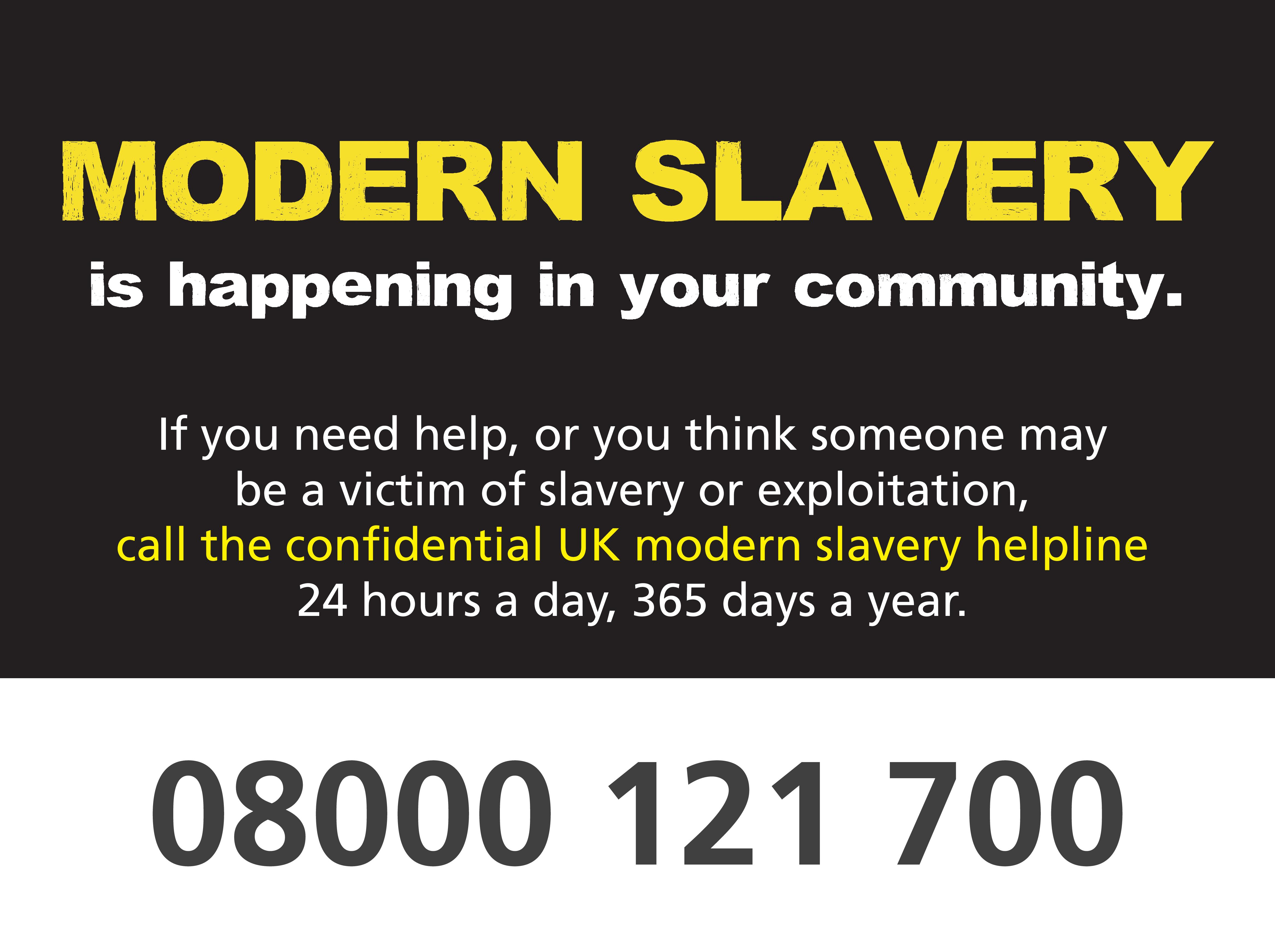 Modern slavery call to action