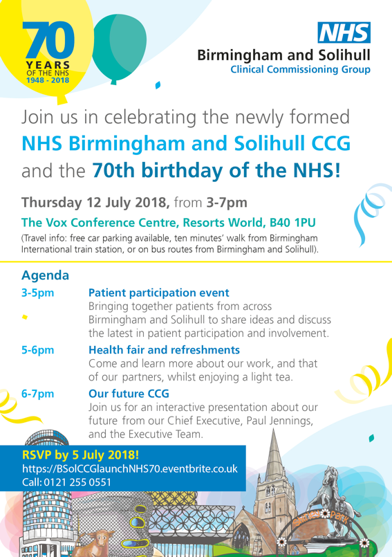 BSol celebration and NHS 70