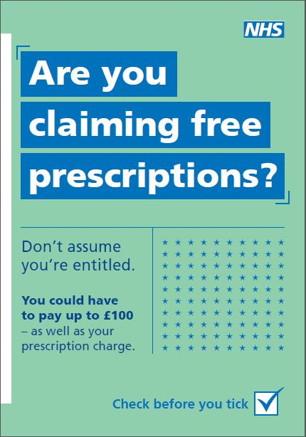 Are you claiming free prescriptions image